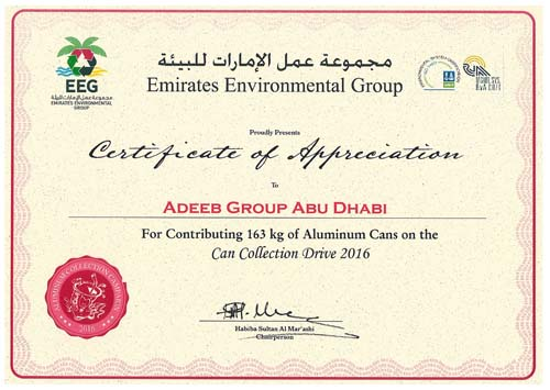 Certifications | Adeeb Electricals & Electronic Services Co. LLC
